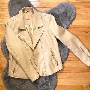 Blank NYC tan leather jacket